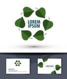 Природа Листья в круге Логотип, значок, эмблема, Стоковое Фото