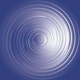 蓝色能源漩涡 免版税库存照片