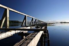 遗弃码头 免版税库存图片