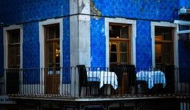 Таблицы в балконе Стоковая Фотография