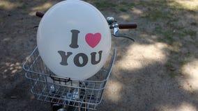 воздушный шар я тебя люблю Стоковые Изображения RF