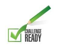 挑战准备好校验标志例证 免版税库存照片