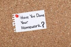准备好家庭作业的准备 免版税图库摄影
