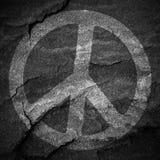 和平标志被构造的难看的东西背景 免版税图库摄影