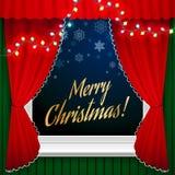 圣诞节例证光栅版本视窗 免版税库存照片