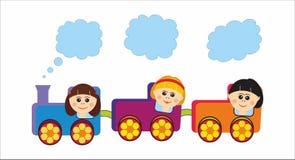 儿童火车 免版税库存照片