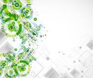 Предпосылка шаблона дела абстрактной технологии покрашенная зеленым цветом Стоковые Фото
