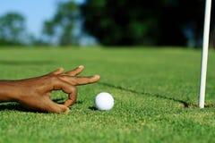 滑稽的高尔夫球 图库摄影