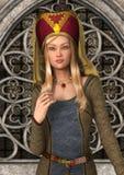 中世纪的夫人 免版税库存图片