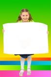 κενή αφίσα κοριτσιών μικρή Στοκ Εικόνα