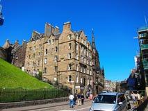 Старый городок в Эдинбурге, Шотландии Стоковые Изображения