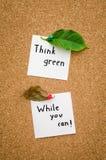 Думайте зеленый цвет пока вы можете Стоковые Изображения RF