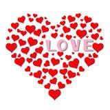 Падать влюбленн в предпосылка сердец Стоковое Изображение