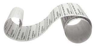 财政收据 免版税图库摄影