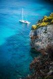 美丽的爱奥尼亚海在扎金索斯州 库存图片