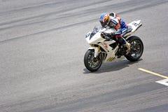 гонка мотоцикла Стоковые Изображения