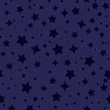 Безшовный вектор картины звезд Стоковая Фотография