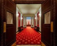 对西维吉尼亚议院的入口 免版税库存照片