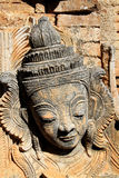 古老缅甸佛教塔细节 免版税库存图片