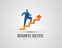 企业传染媒介商标设计模板 成功或 免版税图库摄影