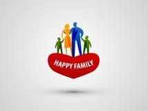 家庭传染媒介商标设计模板 人们或爱 免版税库存照片