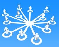 Κοινωνικοί συνδέοντας άνθρωποι έννοιας δικτύων τρισδιάστατοι Στοκ Φωτογραφίες
