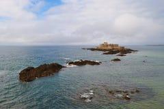 堡垒国民(圣马洛湾,法国) 库存图片