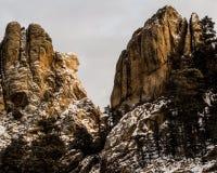 拉什莫尔山的华盛顿在冬天 免版税库存照片
