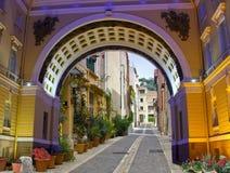 европейская улица Стоковая Фотография