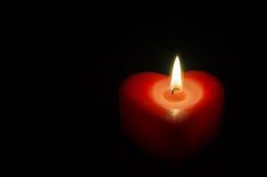 Κόκκινη καρδιά κεριών Στοκ Φωτογραφία