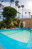 游泳池在阿加迪尔,摩洛哥 免版税图库摄影
