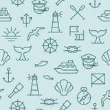 无缝船舶的模式 免版税库存图片
