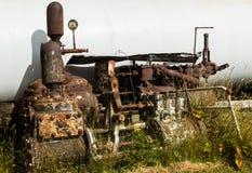 老蒸汽引擎零件 免版税库存照片