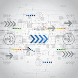 Αφηρημένο μελλοντικό υπόβαθρο έννοιας τεχνολογίας, διάνυσμα Στοκ Εικόνα