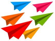 Самолеты цвета бумажные Стоковая Фотография RF