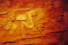 雕刻墙壁 免版税库存照片
