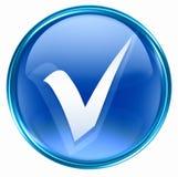Μπλε εικονιδίων ελέγχου Στοκ εικόνα με δικαίωμα ελεύθερης χρήσης