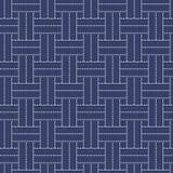 Традиционный японский орнамент вышивки с линиями и прямоугольниками Стоковые Изображения RF