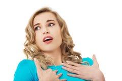 Женщина уверена что она невиновна Стоковое Изображение