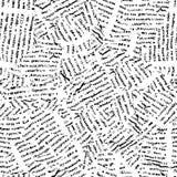 报纸无缝的向量墙纸 免版税库存图片