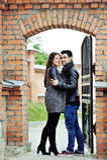 Полнометражный портрет молодых пар в влюбленности Стоковое Изображение