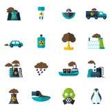 Εικονίδιο ρύπανσης επίπεδο Στοκ Φωτογραφίες