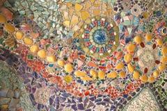 五颜六色的玻璃马赛克艺术和抽象墙壁 免版税库存照片