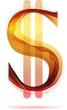 Красный абстрактный знак доллара Стоковое фото RF