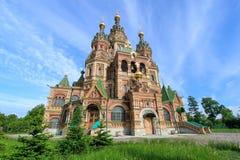 圣皮特圣徒・彼得和保罗教会圣彼得堡,俄罗斯教会  免版税库存图片