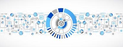 企业背景的抽象技术概念 免版税库存图片