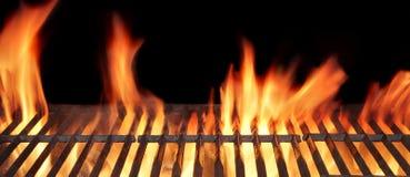 Гриль огня барбекю Стоковые Изображения