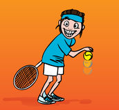 例证球员网球 免版税库存照片