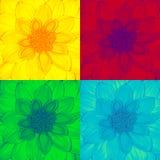 Λαϊκό λουλούδι νταλιών τέχνης Στοκ φωτογραφία με δικαίωμα ελεύθερης χρήσης