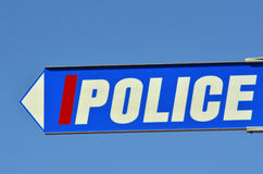 Дорожный знак полиции Стоковая Фотография RF